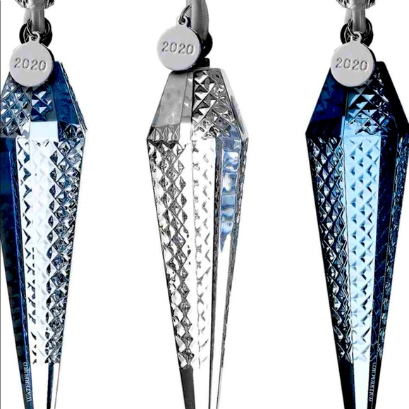 WATERFORD CRYSTAL ICICLE ORNAMENTS SET OF THREE